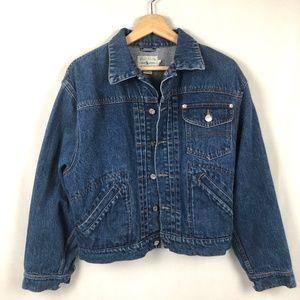 Ralph Lauren Vintage Mens Denim Jean Jacket Button